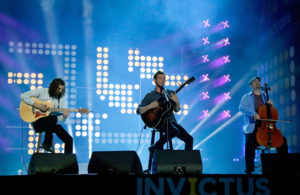 A recent picture of Phillip Phillips performing at the closing of the Invictus Games in Orlando, FL.