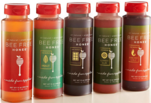 The different flavors in the Bee Free Honee range