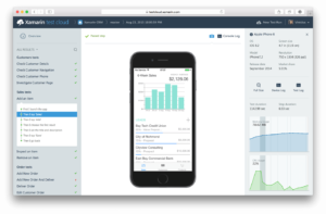 An image of the Xamarin development suite, allowing for rapid prototyping of your own apps before they hit the market.