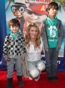 Brandi Glanville and her stylish kids, Mason & Jake
