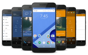 Several screens of Custom ROMs available for the Nexus 6P