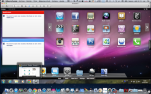 iPadian run on a Mac system. This allows side by side access to both phone and Mac apps with ease.