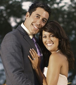 Ed Swiderski and Jillian Harris after their engagement at the end of The Bachelorette