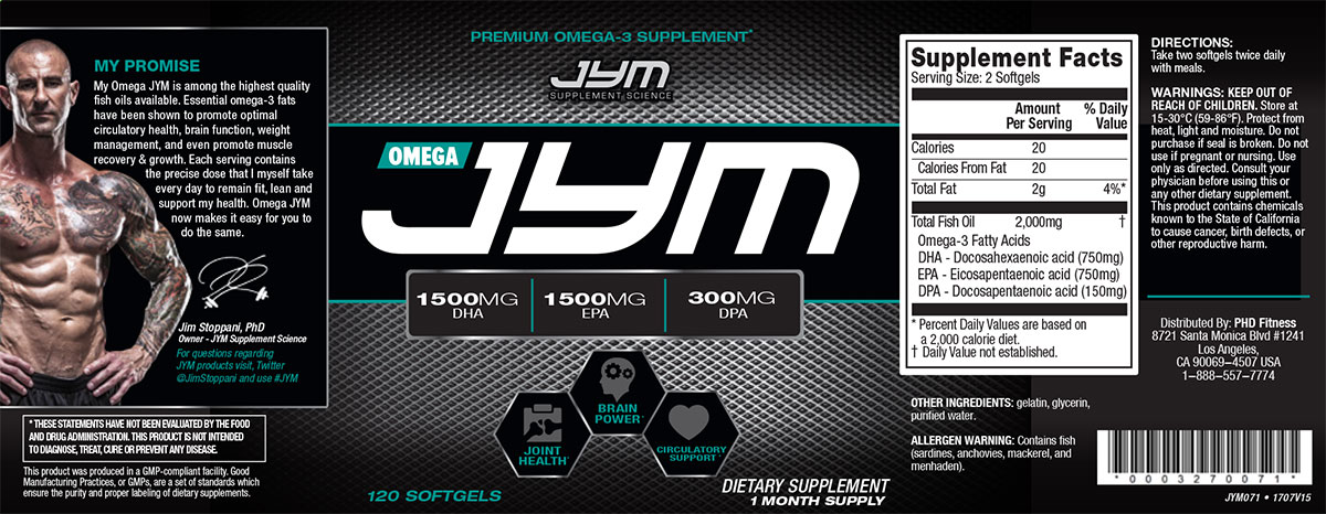 Omega jym fish oil supplement review the gazette review for Jym fish oil