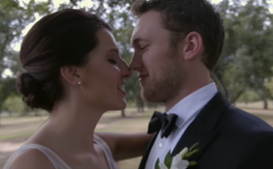 A shot of newlyweds Phillip Phillips and Hannah Blackwell.