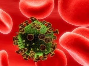 A simulated image of the HIV outer protein coat