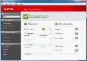 Setting up a scan when going to bed is by far the least stressful option and reaps all the benefits of Avira nicely.