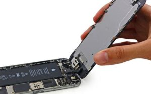 The hardware of the iPhone, which can rarely be seen by the user.