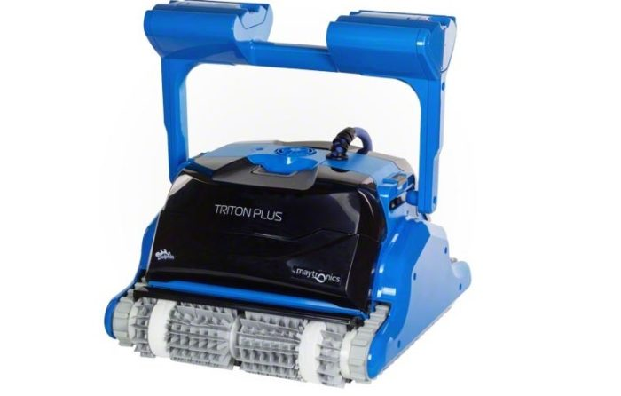 Maytronics dolphin triton plus robotic pool cleaner for Pool cleaner reviews 2013