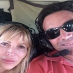 Jordan with Partner Anne Koppe, enjoying a helicopter ride in 2015