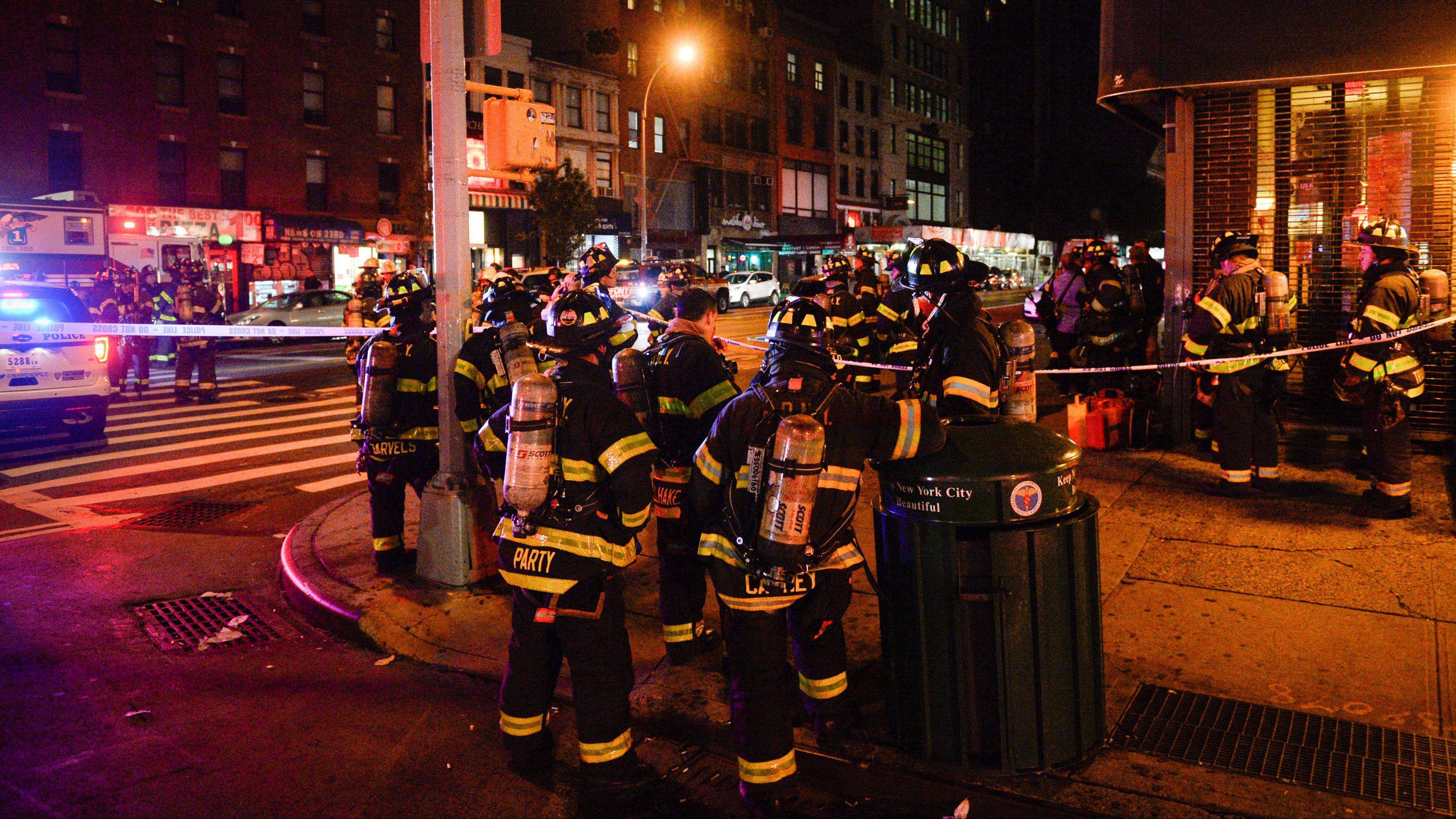 Authorities Examine Scene of New York City Explosion