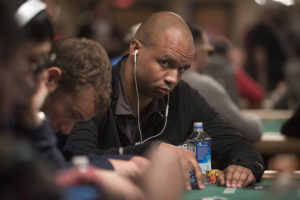 Ivey playing Texas Hold Em during Day 1 of the 2016 World Series of Poker