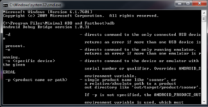 Minimal ADB will run through your command prompt; But it's much easier than it looks.