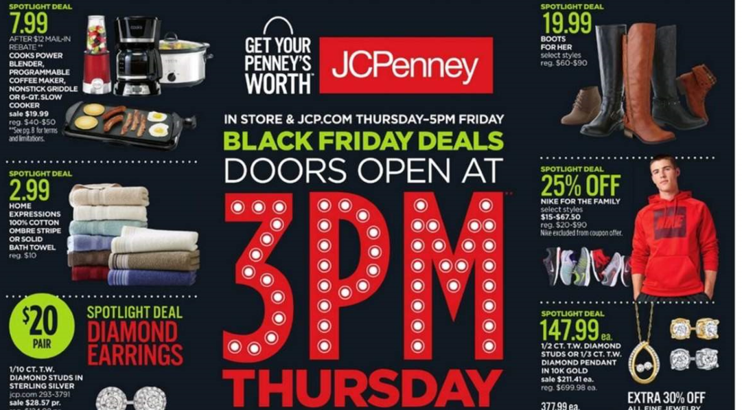 jcpenney door blinds jcpenney black friday deals 2016 full ad scan the gazette review