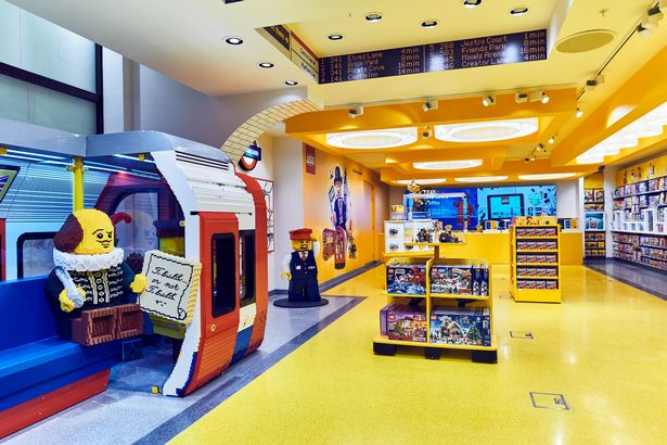 world s largest lego store opens in london s leicester