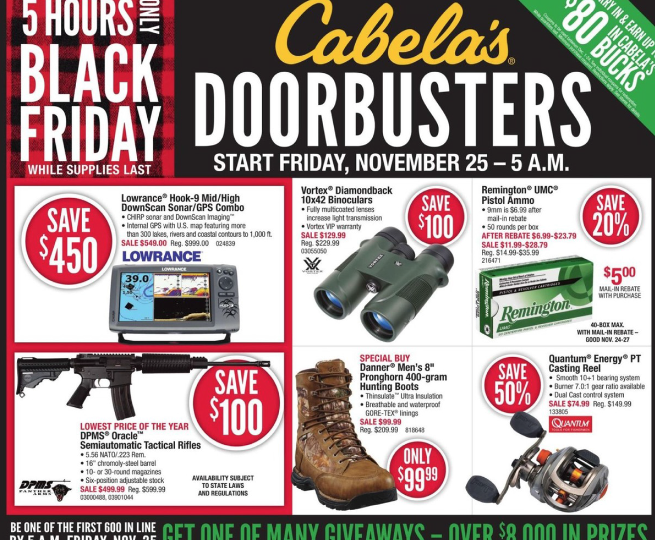 cabela's black friday deals 2016 – full ad scan - the gazette review, Fish Finder