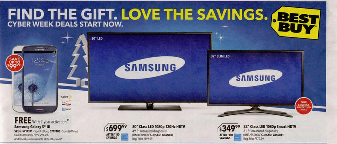 best cyber monday tv deals 50