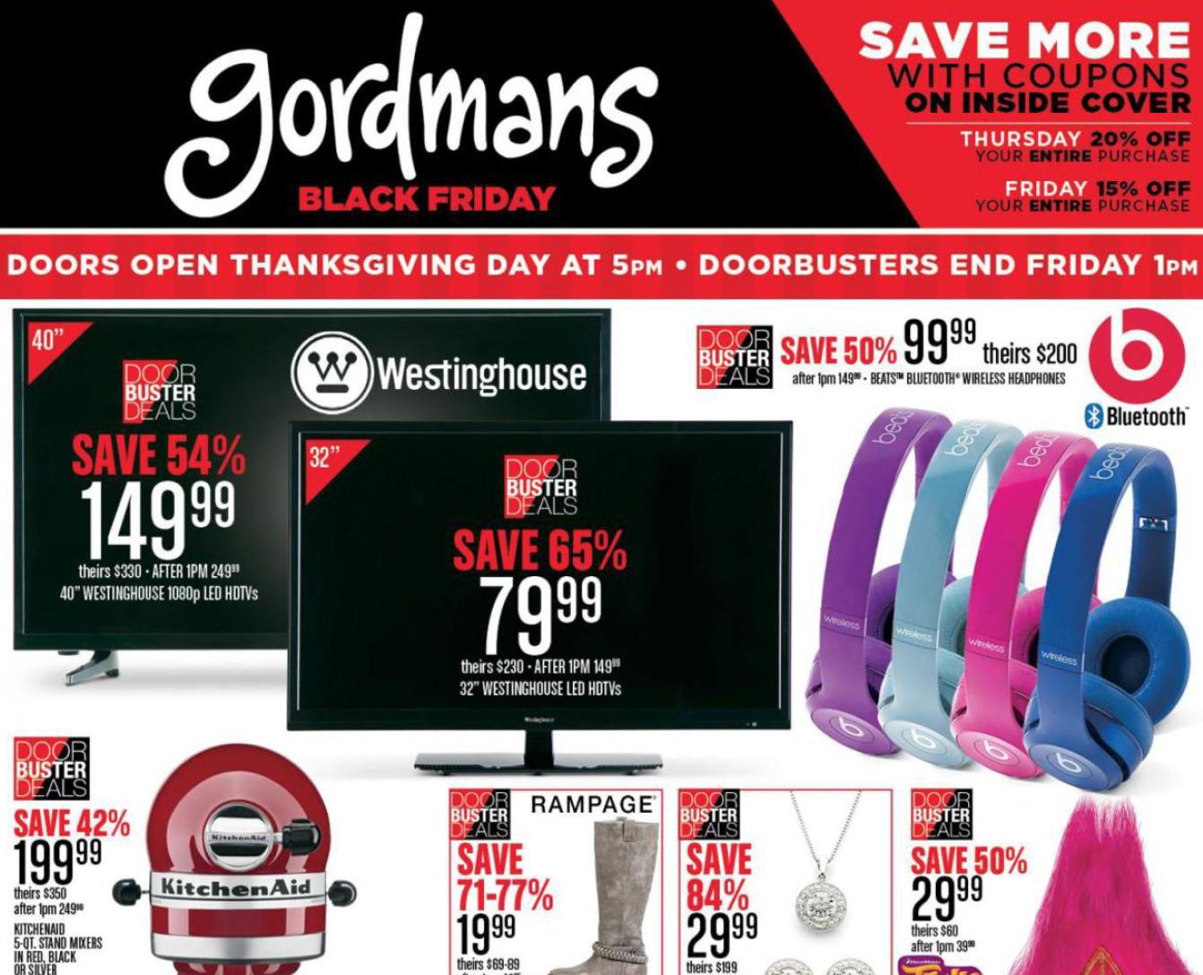 Gordmans 2016 Black Friday Leaked Ad Scans