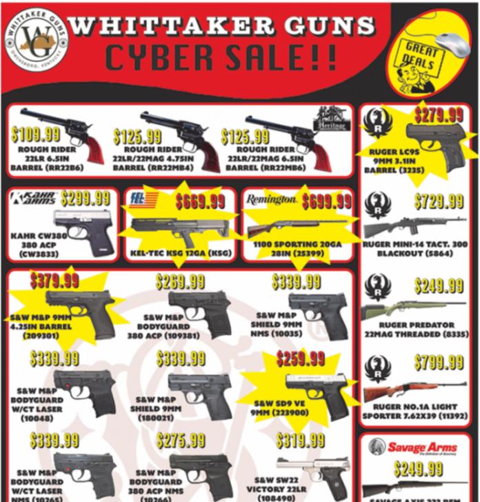 Cyber monday deals guns and ammo
