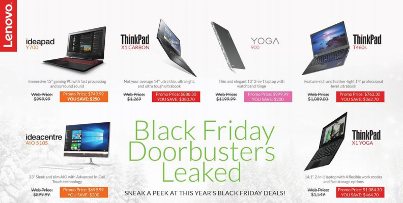 Lenovo Black Friday Ad