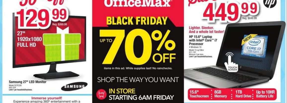 office depot deals black friday