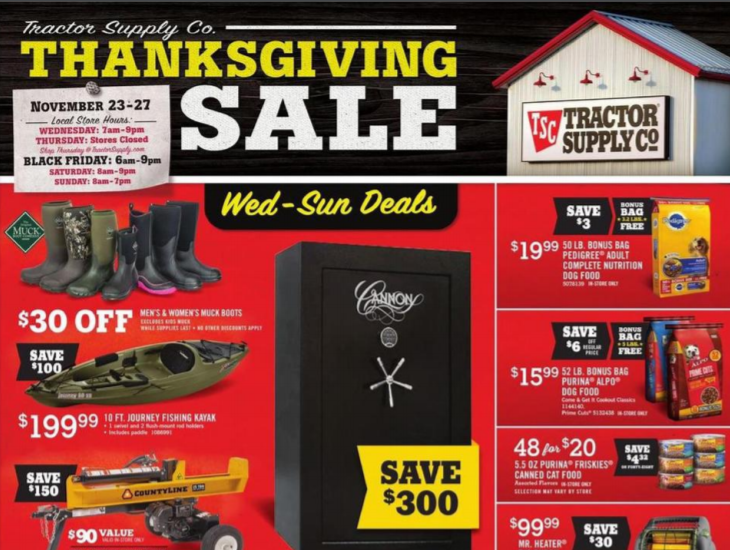 Tractor Supply Company Black Friday Deals 2016 - Complete List ...