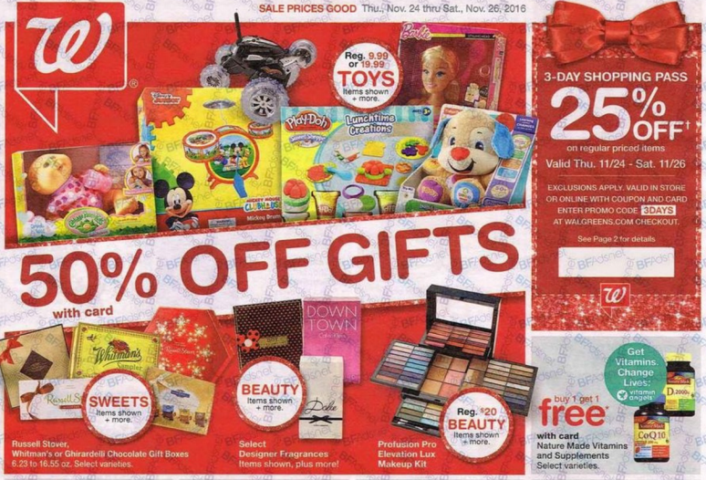 Walgreens Black Friday Deals 2016 - Full Ad Scan - The Gazette Review