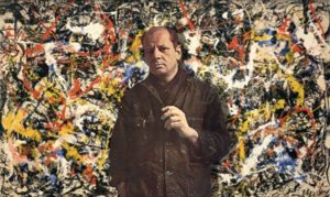 An image of the famous abstract artist, Jackson Pollock.