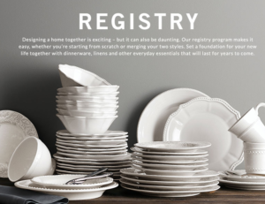 Top 10 places for wedding registries in 2018 best stores 10 pottery barn wedding registry junglespirit Gallery