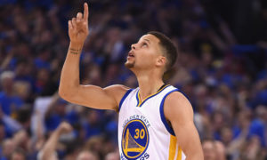 OAKLAND, CA - APRIL 13: Stephen Curry #30 of the Golden State Warriors gestures in the first half against the Memphis Grizzlies during the game at ORACLE Arena on April 13, 2016 in Oakland, California. (Photo by Thearon W. Henderson/Getty Images) ORG XMIT: 575731937 ORIG FILE ID: 521050022