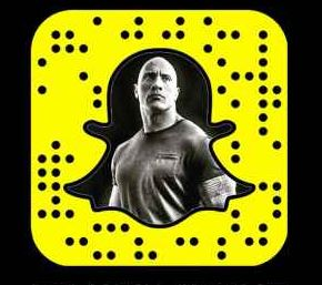dwayne-johnson-snapchat-username-code