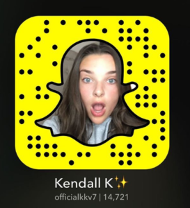 Kendall Vertes Snapchat Username & Snapcode - The Gazette ...