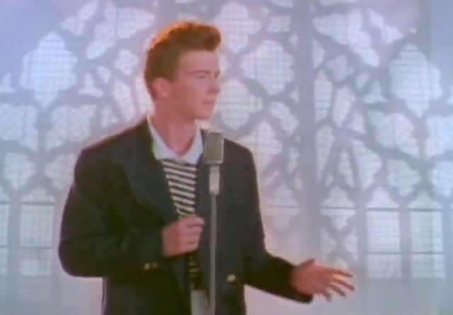rick astley never gonna give you up video youtube - 640×445