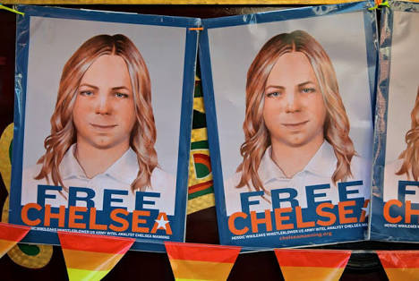 'Here I am': Chelsea Manning shares her new look after prison release