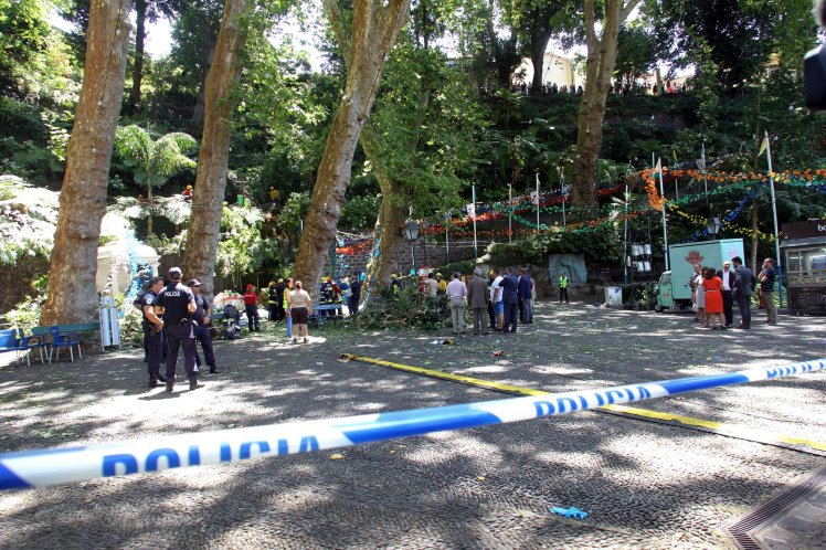 At least 11 killed by falling tree at festival in Madeira