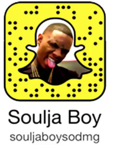 One Of The Earlier Ones To The Party Soulja Boy Joined Snapchat Back In The Fall Of 2013 If Youd Like To Add The Rapper To Your Friends List