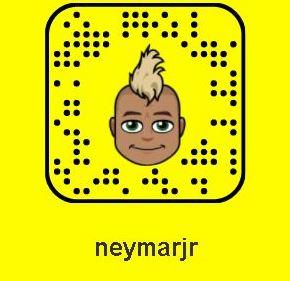 neymar jr snapchat username