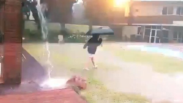 Video captured by mom shows lightning bolt that almost  killed her son