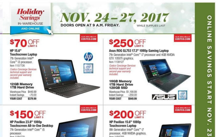 Costco Black Friday Deals 2017 – Full Ad Scan Leaked