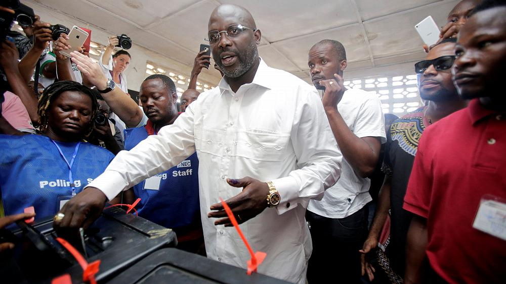 Former world footballer of the year George Weah wins Liberia's presidential election
