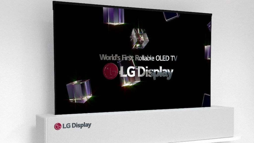 LG Display unveils world's first 65-inch rollable display