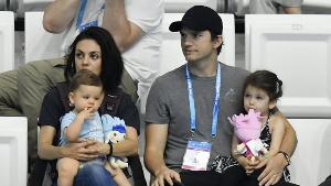 Mila Kunis and Ashton Kutcher with their children