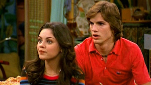 Mila Kunis and Ashton Kutcher in That '70s Show