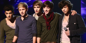 One Direction during The X Factor