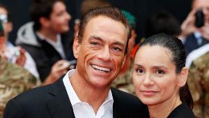 Jean-Claude Van Damme with his wife