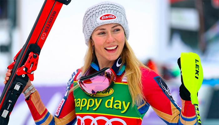 2014 champ Shiffrin settles for fourth in Olympic slalom