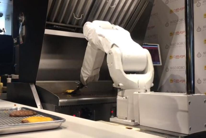 Flippy, the much-hyped burger-flipping robot, takes a break