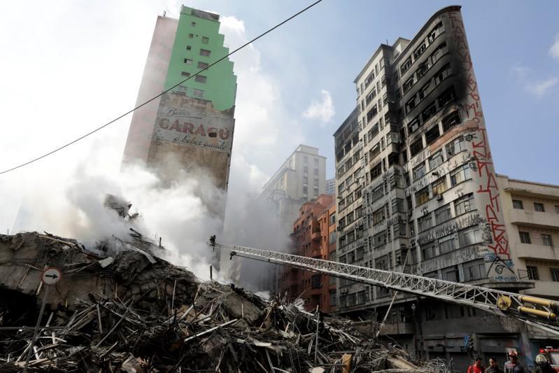 Burning Skyscraper Collapsed in Sao Paulo